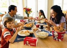 kfc-family-dinnertable