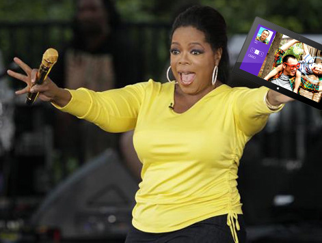 Oprah, very excited about Windows Surface