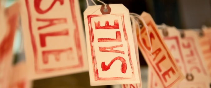 sale tags hanging