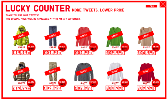 uniqlo tweet promo